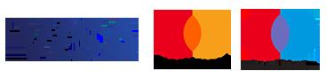 Logos de tarjetas aceptadas VISA MASTERCARD Y MAESTRO